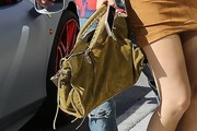Kylie Jenner Suede Tote