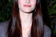 Chyler Leigh Long Straight Cut with Bangs