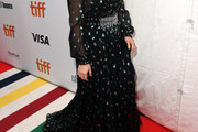Sarah Paulson Embroidered Dress