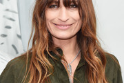 Caroline De Maigret Long Wavy Cut with Bangs