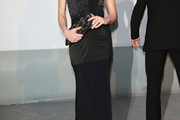 Carla Bruni-Sarkozy Strapless Dress
