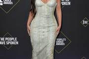 Kim Kardashian Leather Dress