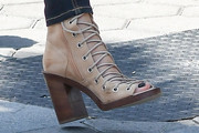Lisa Edelstein Lace Up Boots