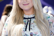 Meghan Trainor Long Side Part