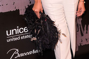 Kimberly Chandler Feathered Clutch