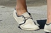 Dianna Agron Canvas Sneakers