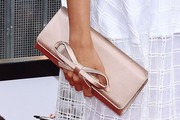 Hilaria Baldwin Satin Clutch