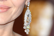 Angelina Jolie Diamond Chandelier Earrings