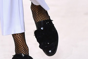 Joan Smalls Leather Slip On Shoes