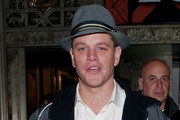 Matt Damon Fedora