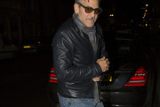 George Clooney Leather Jacket