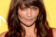 Helena Christensen Long Wavy Cut with Bangs