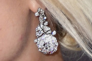 Margot Robbie Dangling Diamond Earrings
