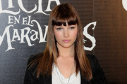 Ursula Corbero Long Straight Cut with Bangs