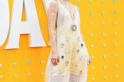 Lily James Beaded Dress