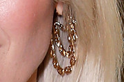 Rose Byrne Gold Dangle Earrings