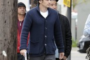 James Franco Shawl-Collar Cardigan