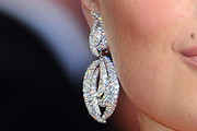 Kate Upton Dangling Diamond Earrings