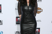 Katey Sagal Leather Dress