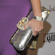 Kris Jenner Metallic Clutch