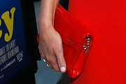 Elizabeth Banks Leather Clutch