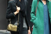 Lily Aldridge Metallic Shoulder Bag