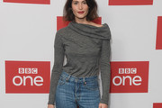 Gemma Arterton Cowl Neck Top