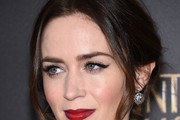 Emily Blunt Messy Updo