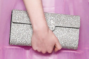 Lucy Boynton Metallic Clutch