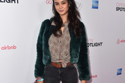 Courtney Eaton Fur Coat