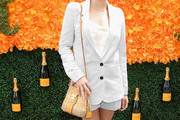 Elizabeth Olsen Straw Shoulder Bag