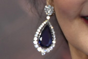 Lynda Carter Dangling Gemstone Earrings