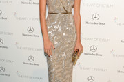 Odette Annable Beaded Dress
