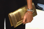 Selita Ebanks Metallic Clutch