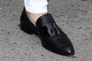 Kendall Jenner Leather Slip On Shoes