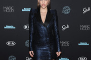 Barbara Palvin Tuxedo Dress