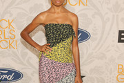 Skai Jackson Strapless Dress