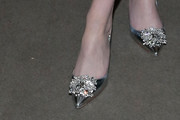 Lucy Boynton Evening Pumps