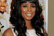 Tasha Smith Long Curls with Bangs