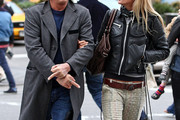 Mickey Rourke Wool Coat