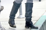 Rachel Hunter Motorcycle Boots