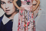 Helena Bonham Carter Print Dress