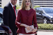 Queen Letizia of Spain Leather Jacket