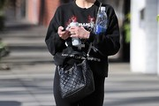 Ashlee Simpson Quilted Leather Bag