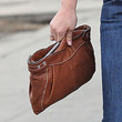 Selena Gomez Leather Clutch
