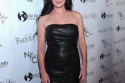 Shannen Doherty Strapless Dress