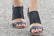 Emmy Rossum Strappy Sandals