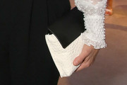 Perrey Reeves Leather Clutch