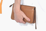 Amanda Peet Leather Clutch