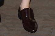 Zosia Mamet Leather Slip On Shoes